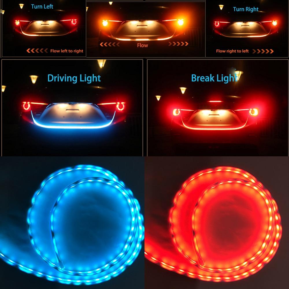 "Car Styling 47"" 59"" Dynamic Streamer LED Trunk Strip Light"