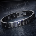 new Cross Bracelet Lovers decoration Mosaic magnetite Health protection against radiation Christianity Exquisite ornaments