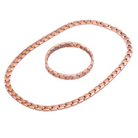 Hottime Bio Elements Energy 99.9999% Germanium Necklace Rose Gold & Silver Color Fashion Pure Titanium Jewelry