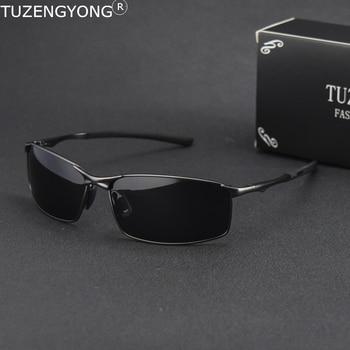 2019 Brand Polarized Sunglasses Men New Fashion Eyes Protect Sun Glasses With Accessories Male driving goggles oculos de sol