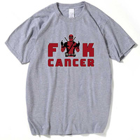 2017 Anime Tshirts Deadpool Funk Cancer T-Shirt P**k Rap Alternative Rock And Roll Games Tee Letter Rocker Clothing 3XL