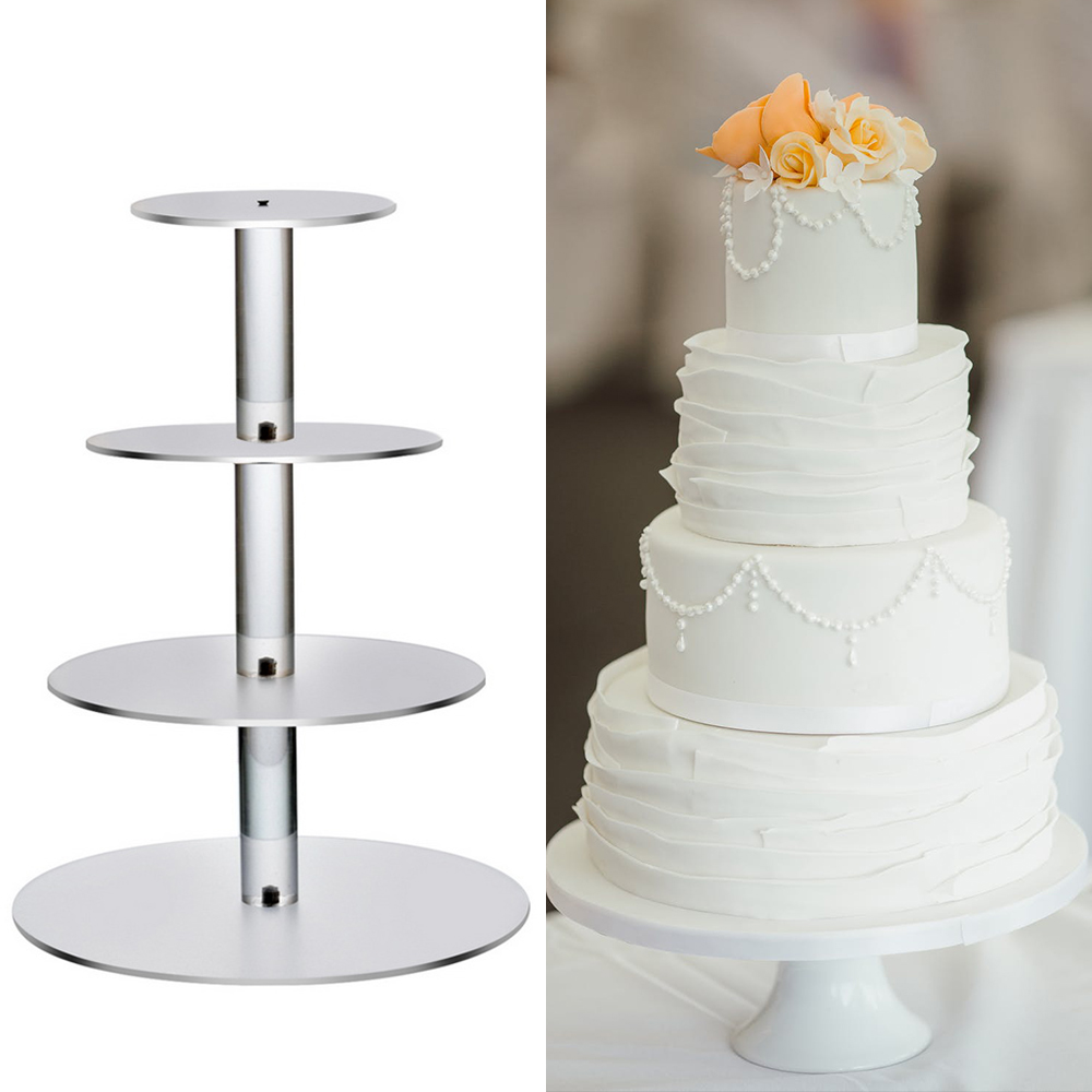 1PCs Transparent Removable Acrylic Cake Display Stand Wedding Birthday Party Decoration Easter Christmas Birthday Party New