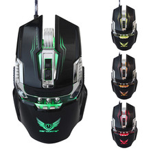 Professional Backlight Gaming Mouse USB Wired 3200 DPI Adjustable Computer Optical LED Game Mouse For PC Laptop