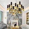 Современные Люстры золотой черный Delightfull Ike труба металлический подвесной светильник для гостиной столовой кухни осветительные приборы