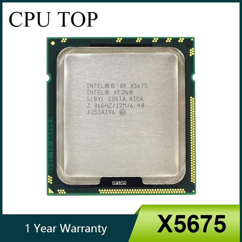 Intel Xeon X5675 3 06GHz 12M Cache Hex 6 SIX Core Processor LGA1366 SLBYL CPU