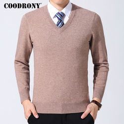 COODRONY Sweater Men Clothes 2019 Autumn Winter Cashmere Wool Pullover Sweaters Plus Size Business Casual V-Neck Pull Homme 8128 3