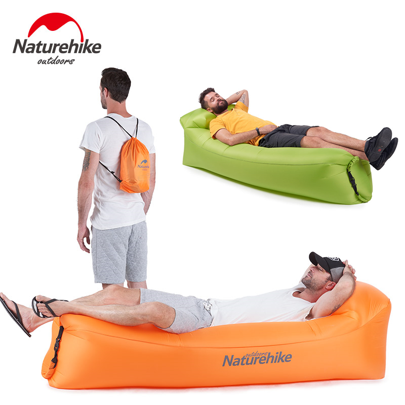Naturehike Banana Inflatable Sleeping Bag Outdoor Beach Sun Lounger Blow Up Camping Lounge Chair Air Filled Lounger Camping Sofa image