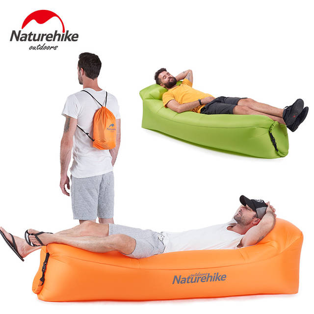 Fine Us 29 7 55 Off Naturehike Banana Inflatable Sleeping Bag Outdoor Beach Sun Lounger Blow Up Camping Lounge Chair Air Filled Lounger Camping Sofa In Beatyapartments Chair Design Images Beatyapartmentscom