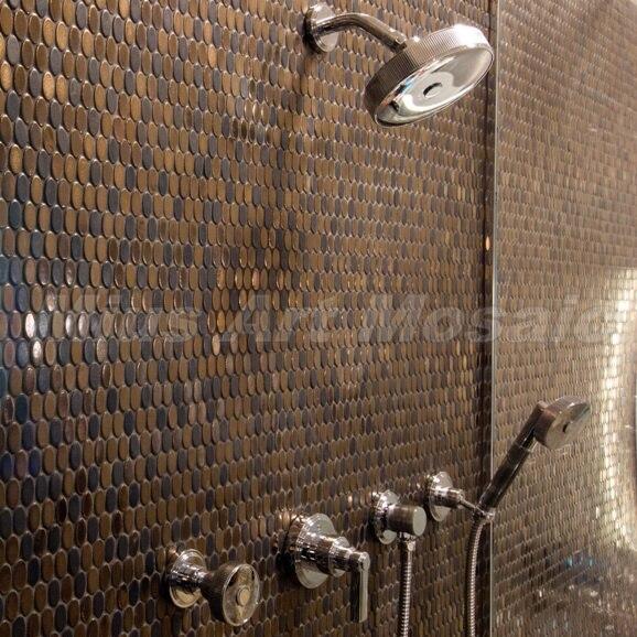 China brons ronde tegels ronde koperen badkamer wandtegels A6YB008 ...