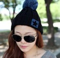 2017 Autumn and winter freeshipping lovely hat Wool knitted star fashion cap Women fashion accessories