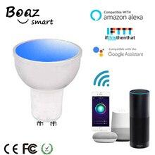 Boaz-EC Smartlife Wifi Gu10 Led Bulb Light Smart Spotlight Dimmable Remote Control Alexa Echo Google Home IFTTT Tuya