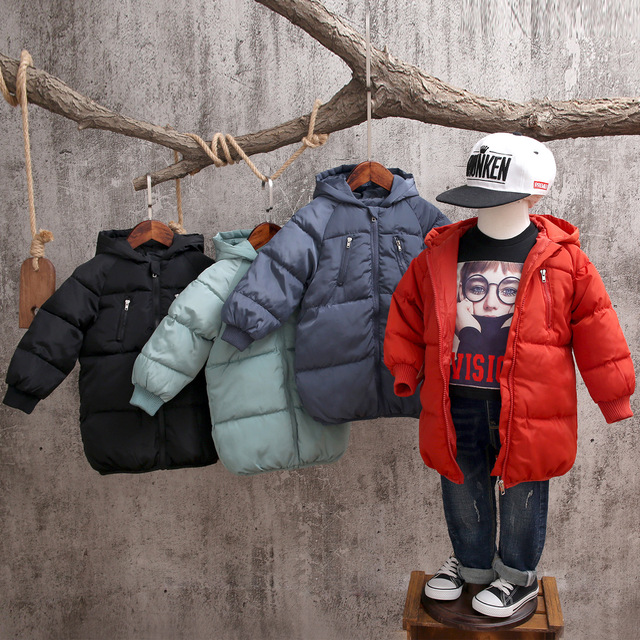 Flash Sale Winter Boy Down Jackets for Boys Children's Coat Clothing Kids Hooded Thick Cotton Padded Warm Jacket Parka Long Overcoat