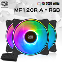 Cooler Master MF120 ARGB 3pcs/lot 12cm RGB Computer Case PC Cooling Slient Fan For CPU Cooler CPU Radiator 120mm PWM Quiet Fan