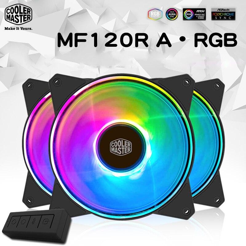 Cooler Master RGB ventilatore 3 pz/lotto 12 cm 12 v fan 4pin PWM Silenziosa caso ARGB ventola di raffreddamento per CPU del dispositivo di raffreddamento liquido di raffreddamento 120mm di raffreddamento della ventola del PC