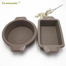 To encounter 1 set silicone cake molds Toast Pans mold Round cake mold Baking and Pastry DIY Baking Tools 2 in Package