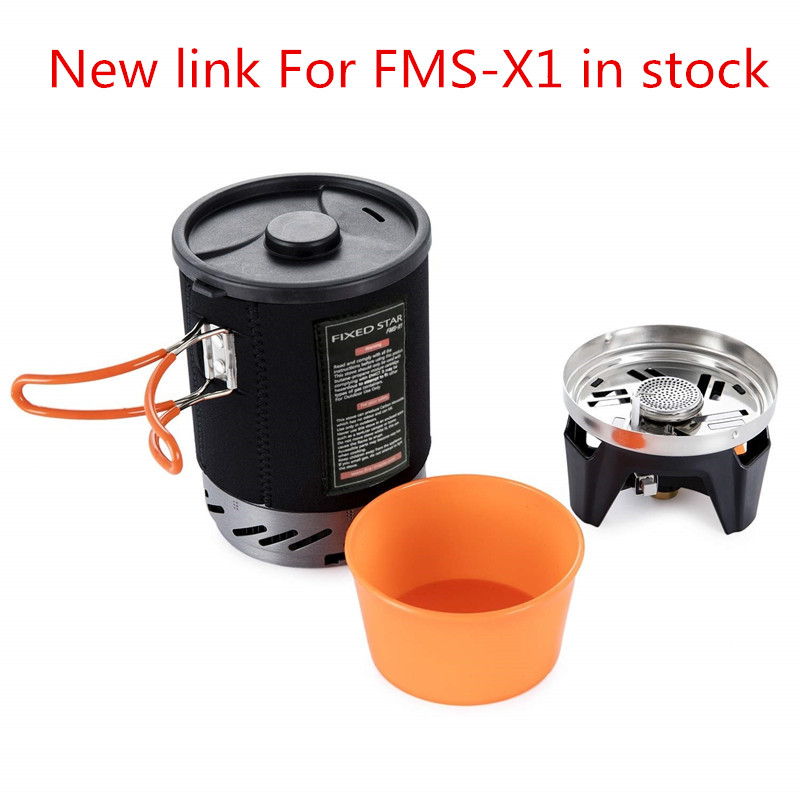 Camping Gas Burners Fire Maple Fixed Star X1 Cooking System With Portable Pot Rack Bowl Stove For Backpacking Outdoor Gas Stoves apg portable camping gas burners system and camping flueless gas stove cooking system