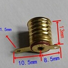 100 шт маленький гнезд ламп E10 физической цепи электрические контрольно-измерительная аксессуары Цоколь для ламп разъем