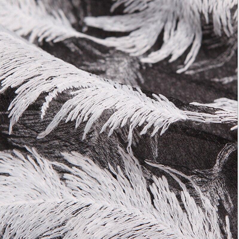 Noir Blanc fleur de Plume dentelle brodée tissu lait soie dentelle suisse africain de voile de dentelle guipure cordon Diamant Net dentelle tissu