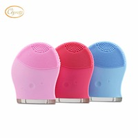 Mini Electric Facial Brush Cleaner Silicone Waterproof Ultrasonic Instrument Facial Skin Care Spa Massager Beauty Tool