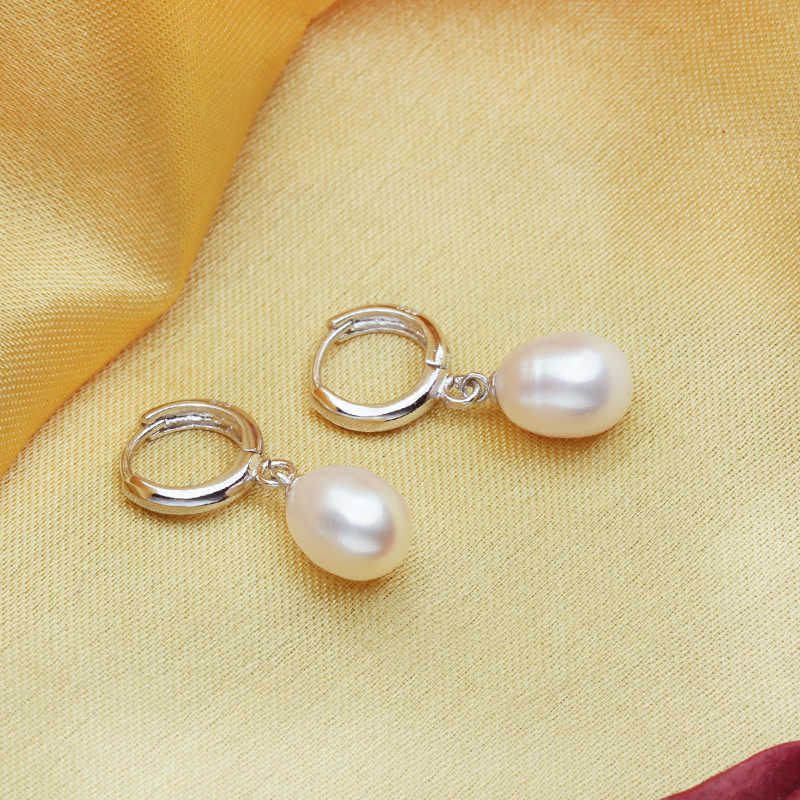 Pearl Jewelry,Pearl Pendant Necklace Freshwater Earrings 925 Sterling Silver CLASSIC jewelry sets charm retro earrings for women
