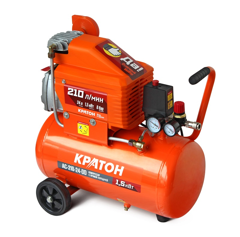 KRATON Compressor AC-210-24-DD 1500W 8bar 210 l / min with direct drive 26 kg редакция газеты правда правда 121 2017