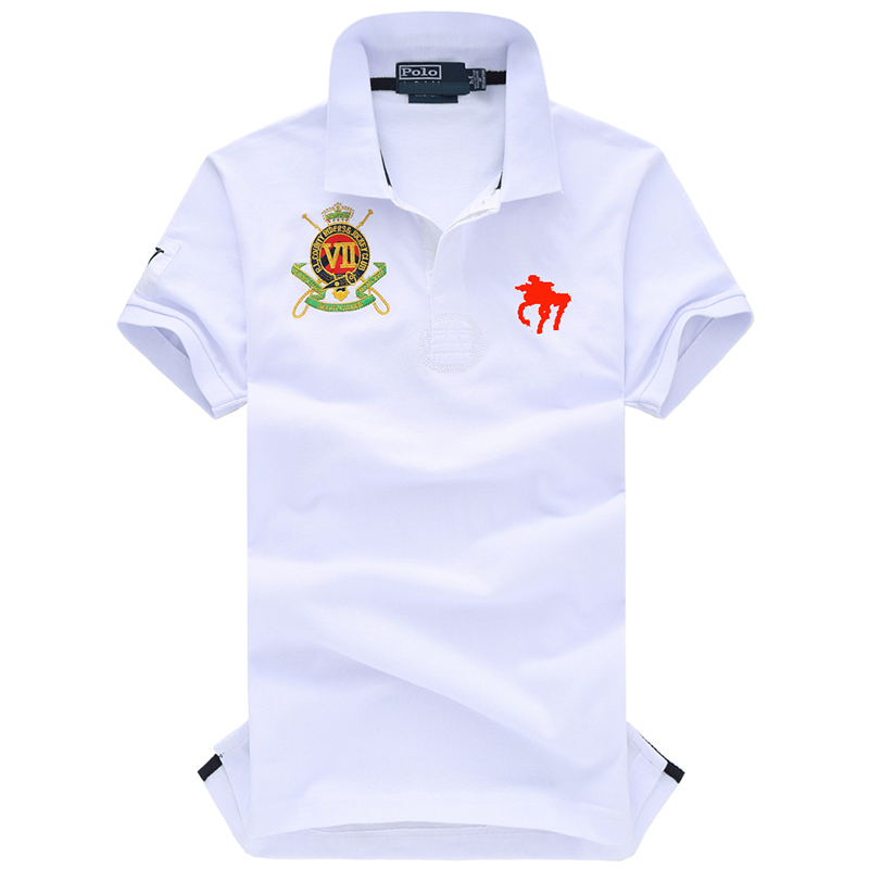 2019 Famous Brand Men   Polo   Shirt Big Horse Logo Embroidered Fashion   Polo   Men Stretchy Short Sleeve   Polos   Para Hombre Summer Tops