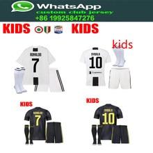 3d159aa9f49 best quality 2018 Serie A patch Juventuses kids RONALDO DYBALA 18 19 soccer jersey  football child shirt kit+sock Free shipping