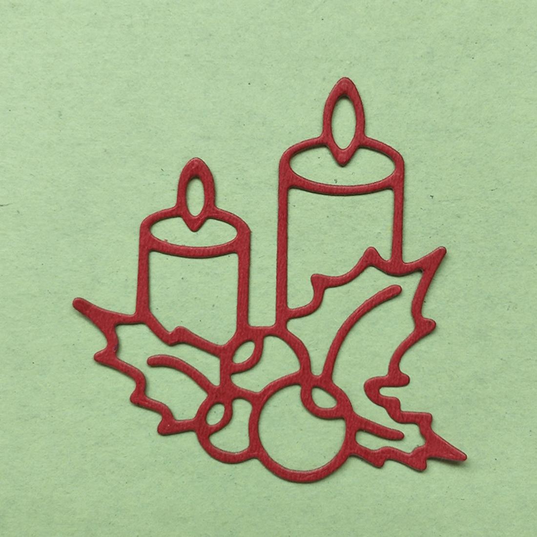 Burning Candle Metal Cutting Dies Stencil for DIY Embossing Scrapbooking Cut Die