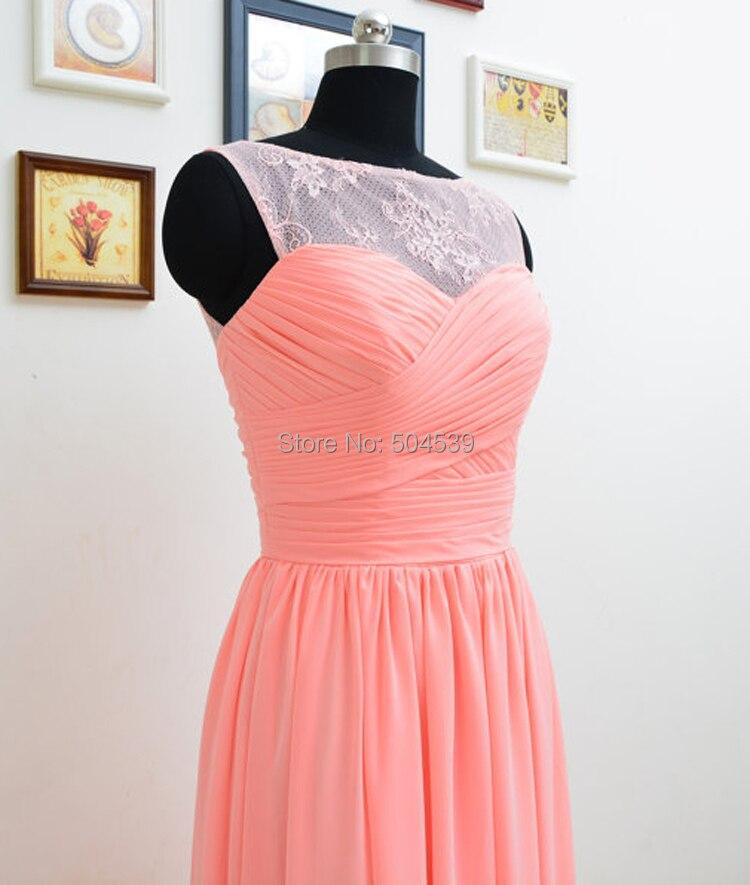 Besfine encaje vestido de fiesta verde menta / rosa / coral A line ...