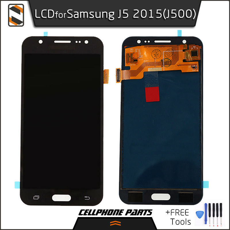 ФОТО LCD Display for Samsung Galaxy J5 2015 J500 J500F J500M J500Y LCD Display Touch Screen Digitizer Complete Assembly Repair+Tools