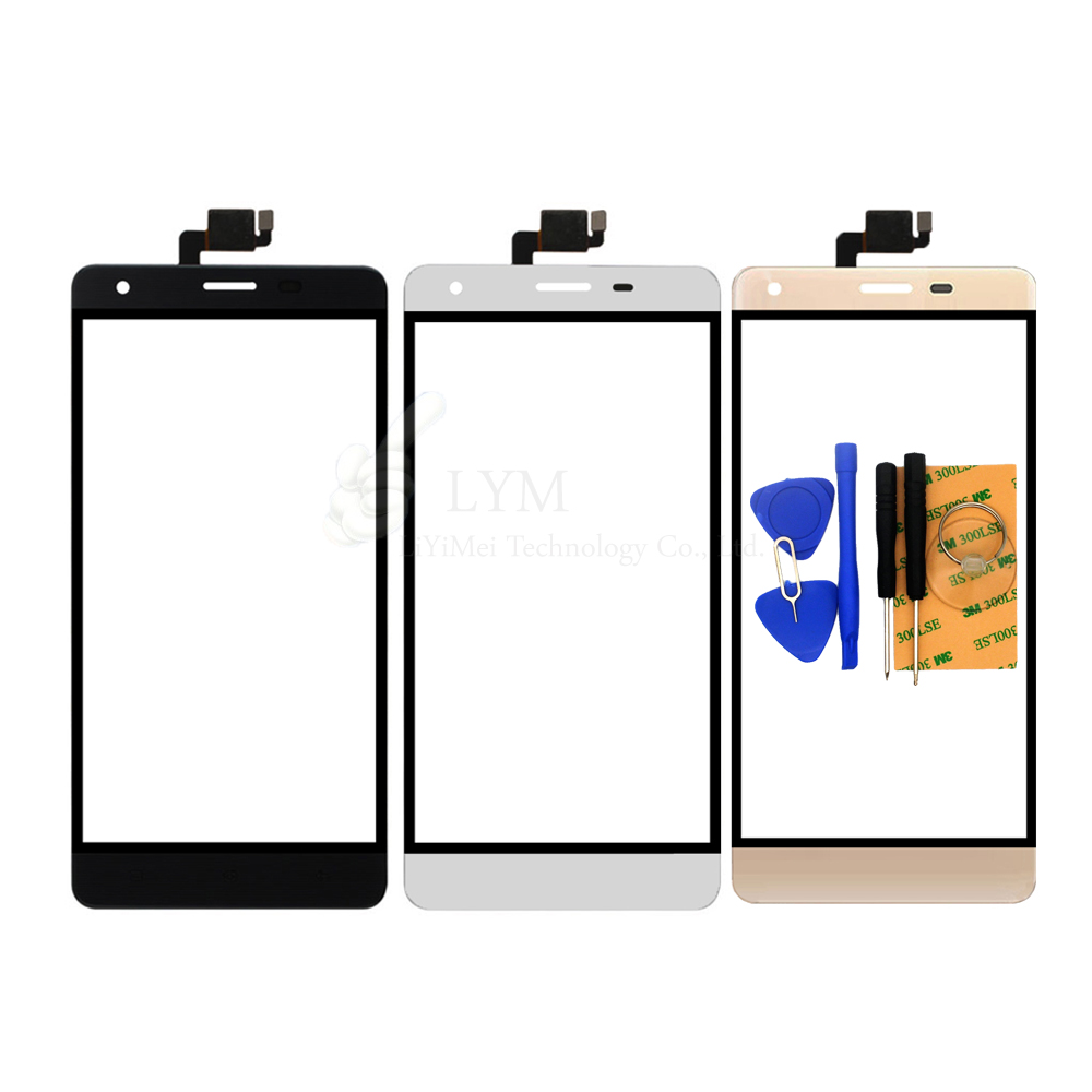 Black White Gold TP for Oukitel K6000 5 5 Touch Screen Digitizer Front Glass Panel No