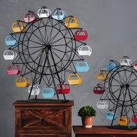 Retro wrought iron ferris wheel model home indoor children's room decoration creative desktop decoration window photography prop