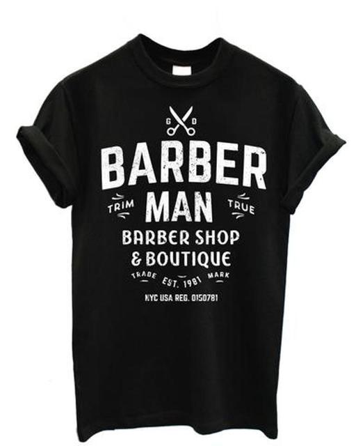 80a7b0bb2d196 US $12.34 5% OFF|Hot Sell 2019 Fashion Shirt Mens T Shirt Barber Man Barber  Barber Shop T Shirts Short Sleeve-in T-Shirts from Men's Clothing on ...