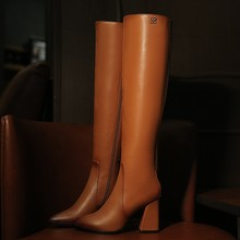 34-43 Women's boots  2016 fashion simple high-heeled high boots