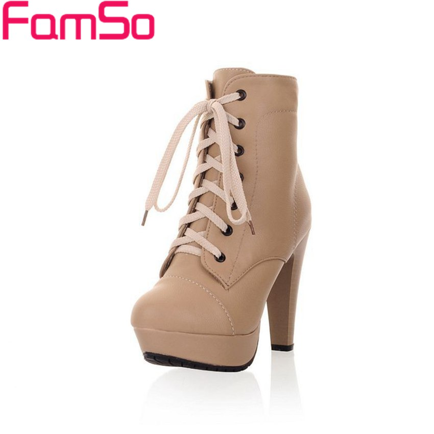 Free shipping 2016 new Sexy font b Women b font Autumn High Heels Pumps Lace up