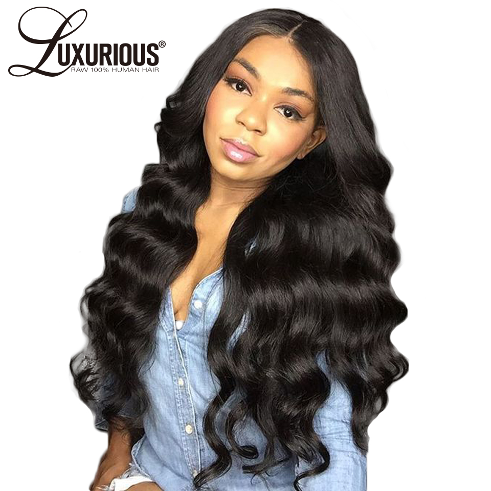 Body Wave Full Lace Human Hair Wigs For Black Women Pre Plucked Hairline With Baby Hair 8