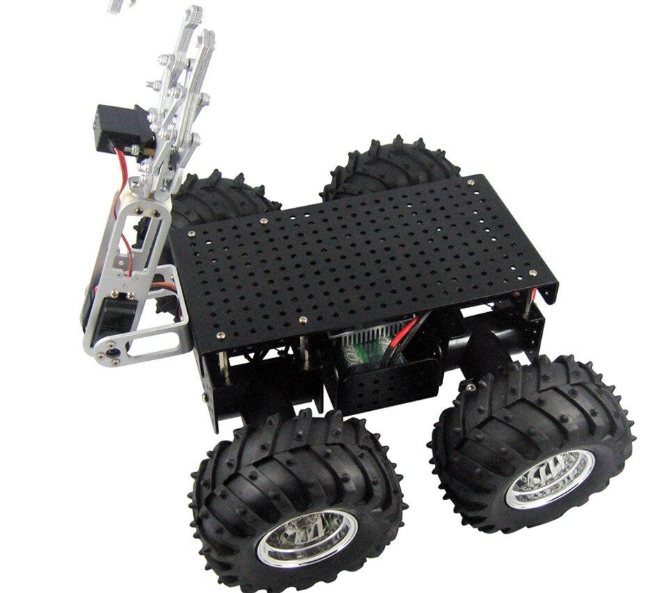 Programmierbares Spielzeug Hingebungsvoll Wilden Klopfer 4wd Chassis Mit 2 Encoder Und 2 Dof Greifer Auto Plaform Roboter Chassis High-tech-spielzeug