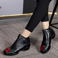 Folk style women ankle boots embroider fashion female jazz dance modern dance shoes soft bottom sole