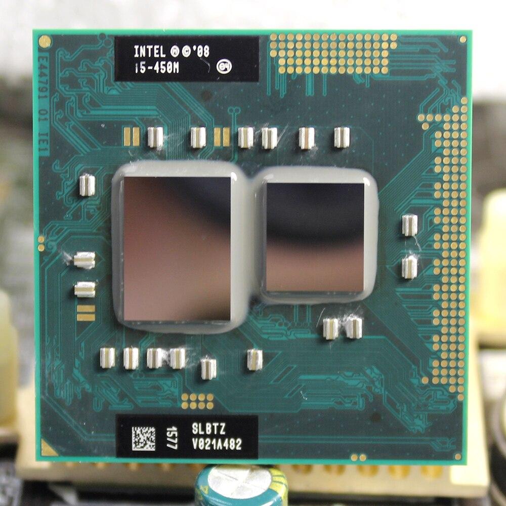 Intel Core Processor I5 450M 3M Cache 2.4 GHz  Socket G1 Dual-Core Laptop Notebook CPU Free Shipping