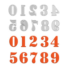 Arabic Numerals Numbers Alphabet Letters Cutting Dies Stencils for Scrapbooking Decorative Stamping Template Paper Crafts Dies