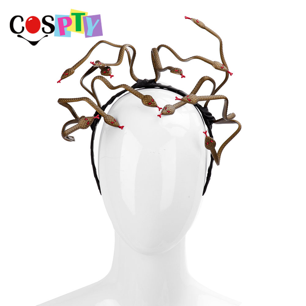 Novelty & Special Use Considerate Cospty Halloween Carnival Burning Man Cosplay Costume Hair Clasp Accessory Animal Stirnband Pvc Scary Medusa Snake Headband