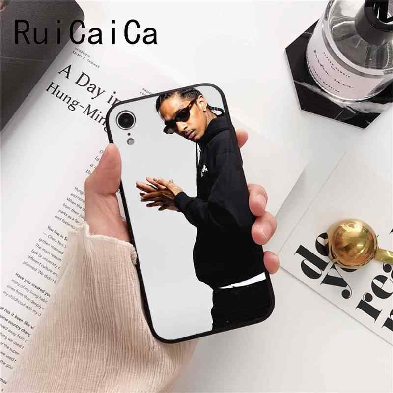 Ruicaica Rapper Nipsey Hussle Siliconen Kleurrijke Leuke Telefoon Case voor iPhone 5 5Sx 6 7 7 plus 8 8 Plus X XS MAX XR 10 Case