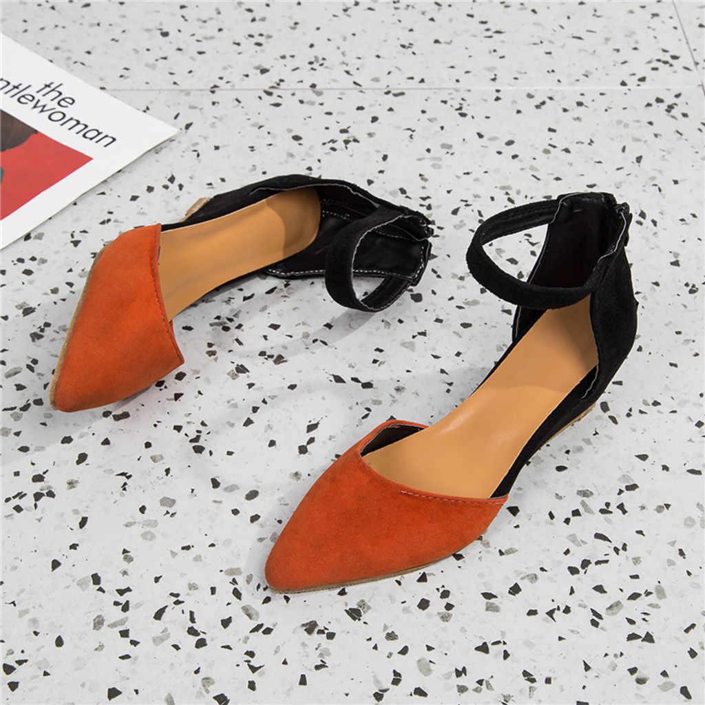 Sandalias de plataforma para mujer cuñas con hebilla de tacón alto sandalias romanas sandalias de verano sólidas para mujer zapatos con cremallera con correa en el tobillo # g35
