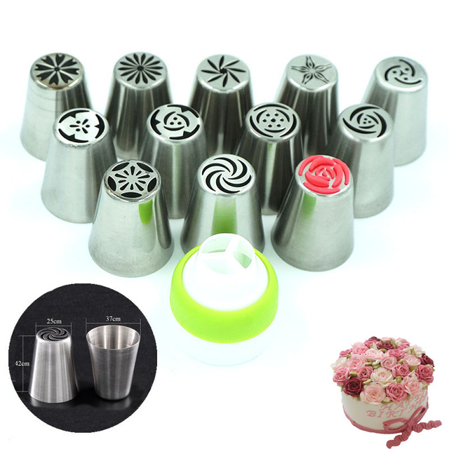 49pcs/Set, Stainless Steel Pastry Nozzles