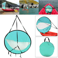Drop Shipping Durable 42 Kayak Boat Wind Sail Sup Paddle Board With Clear Window