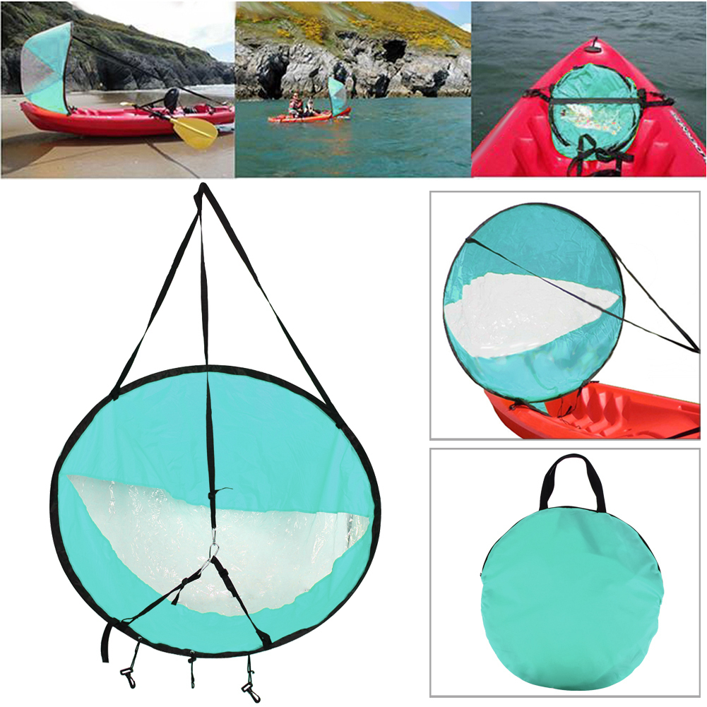 """Drop shipping Durable 42"""" Kayak for fishing sailing boat accessories marine Wind Sup Paddle Board Sail with clear window"""