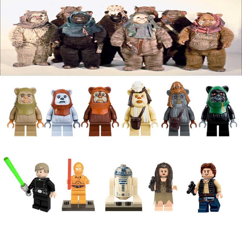 Star Wars Action Figures Ewoks Luke StarWars Toys For Children Compatible With StarWar Building Blocks