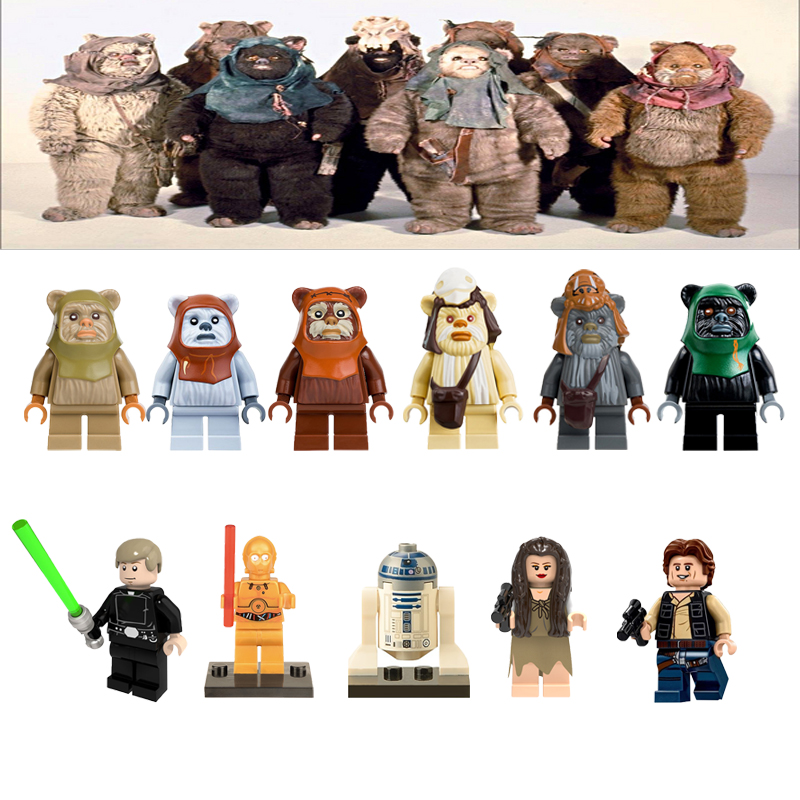Legoelys Star Wars Action Figures Ewoks Luke StarWars Toys For Children Compatible With StarWar Building Blocks