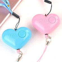 Self Defense Alarm 120dB Heart Shape Girl Women Security Protect Alert Personal Safety Scream Loud Keychain Emergency Alarm