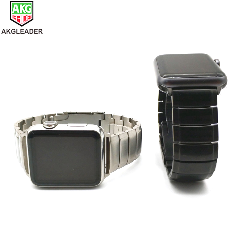 Heavy Watch Band For Apple Watch 4 40mm 44mm Solid Metal Steel Wrist Strap Watchband For Apple Series 1 2 3 Bracelet 38mm 42mm in Watchbands from Watches